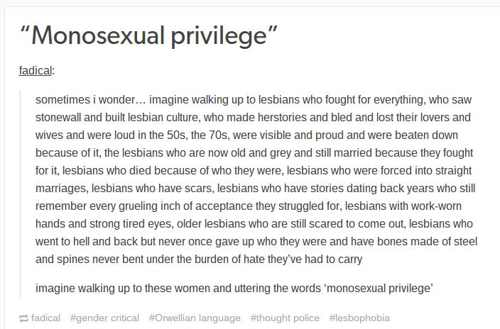 Monosexual privilege definition