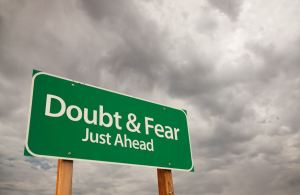 doubt & fear sign