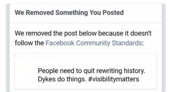 Facebook Has a Problem With Dykes | Listening to Lesbians