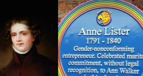 Ann Lister Original Plaque
