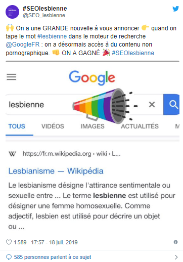 SEO Lesbienne Google Victory